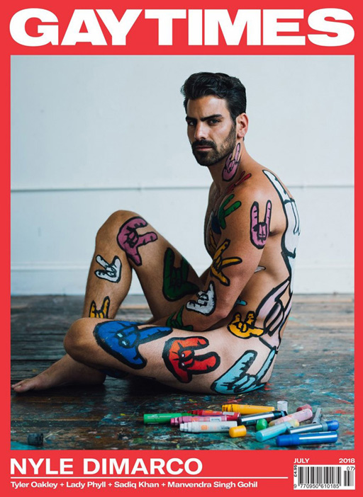 Outspoken actor and model Nyle DiMarco covers Gay Times Magazine