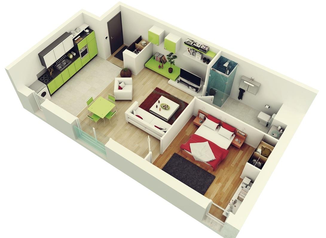 Stylish%2BModern%2BHome%2B3D%2BFloor%2BPlans%2B%252811%2529 Stylish Home 3D Floor Plans Interior