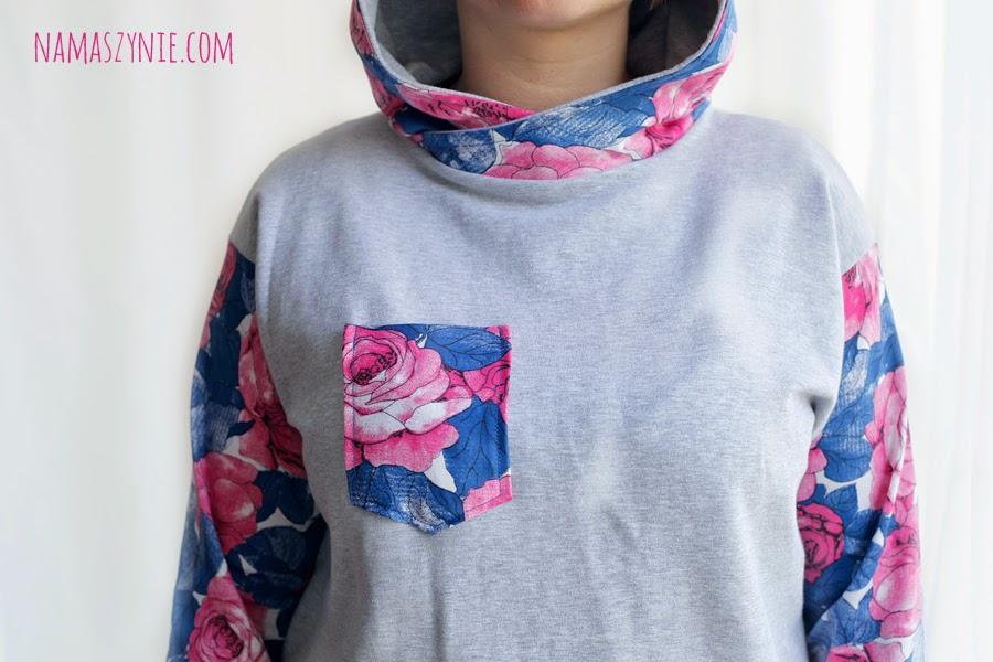 bluza, Bluzy, chmurki, kolorowe, kwiaty, Na Maszynie, na zamówienie, nietypowe, retro, vintage, we wzory, z kapturem, z nadrukiem,