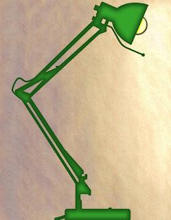 Zeichnung Schreibtischlampe