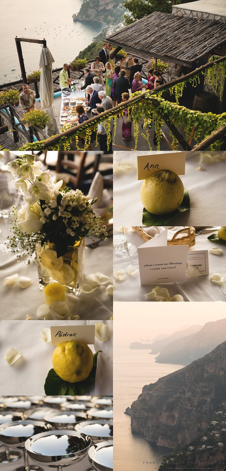 Rustic wedding reception Positano
