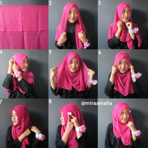 Tutorial hijab segi empat simple casual my wordpress blog.