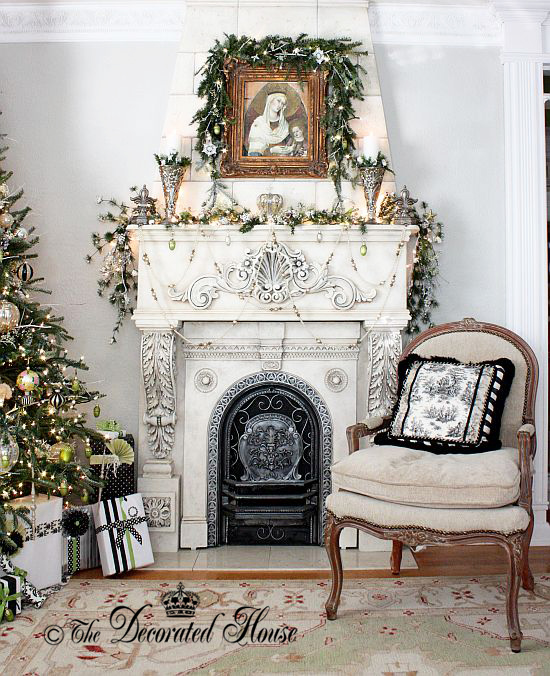The Decorated House ~ Christmas Mantel 2014