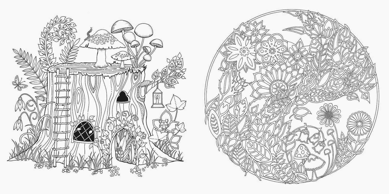 Adult coloring pages forest ~ SurLaLune Fairy Tales Blog: Art Thursday: Enchanted Forest ...