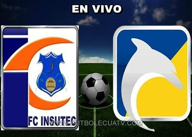 Insutec recibe a Delfín en vivo a partir de las 17:45 horario designado por la FEF a efectuarse en el reducto Siete de Octubre prosiguiendo los 1/16tavos Ida de la Copa Ecuador 2019, siendo el árbitro principal Cristian Aguirre Naranjo con transmisión del Canal del Fútbol.