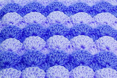 2 - Foto de punto a abanicos en reliave a crochet. Majovel crochet.