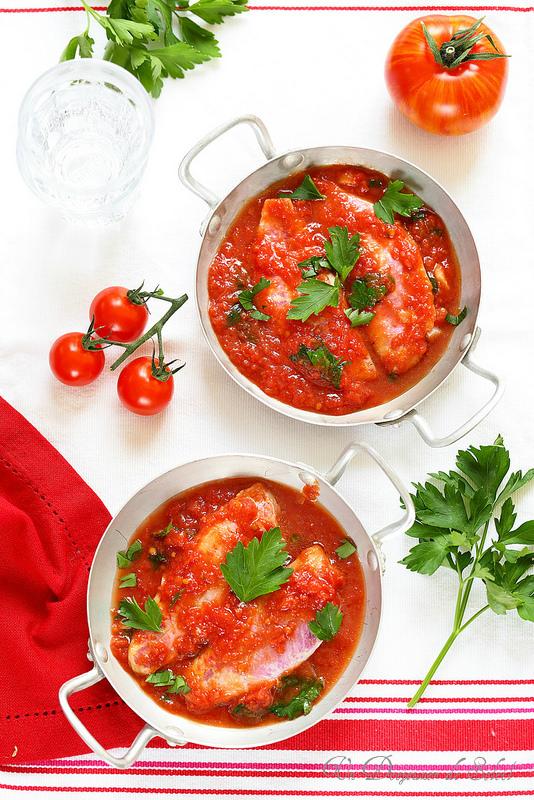Rougets à la sauce tomate comme en Toscane