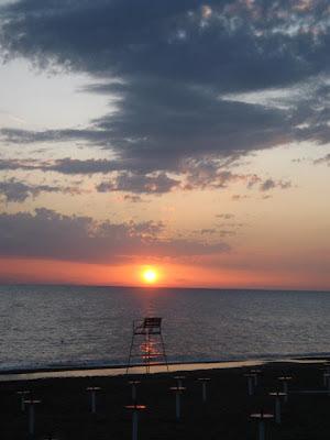 Sunset at Marina di Bibbona beach on Tuscany's coast