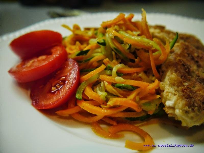 Gemüse-Spaghettimit Mango-Senf-Butter