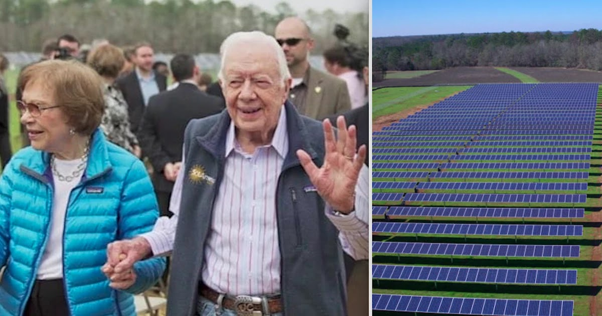 Former US President Jimmy Carter Built State of The Art Solar Farm And Powers Half Of His Home City
