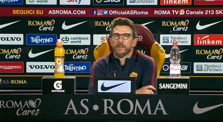 La conferenza stampa di Di Francesco pre Lazio Roma: