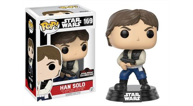 Bonecos Pop Funko Star Wars Celebration 2017 Han Solo