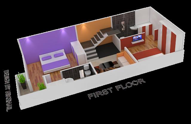 15x35 House plan with 3d elevation nikshail | Nikshail ...