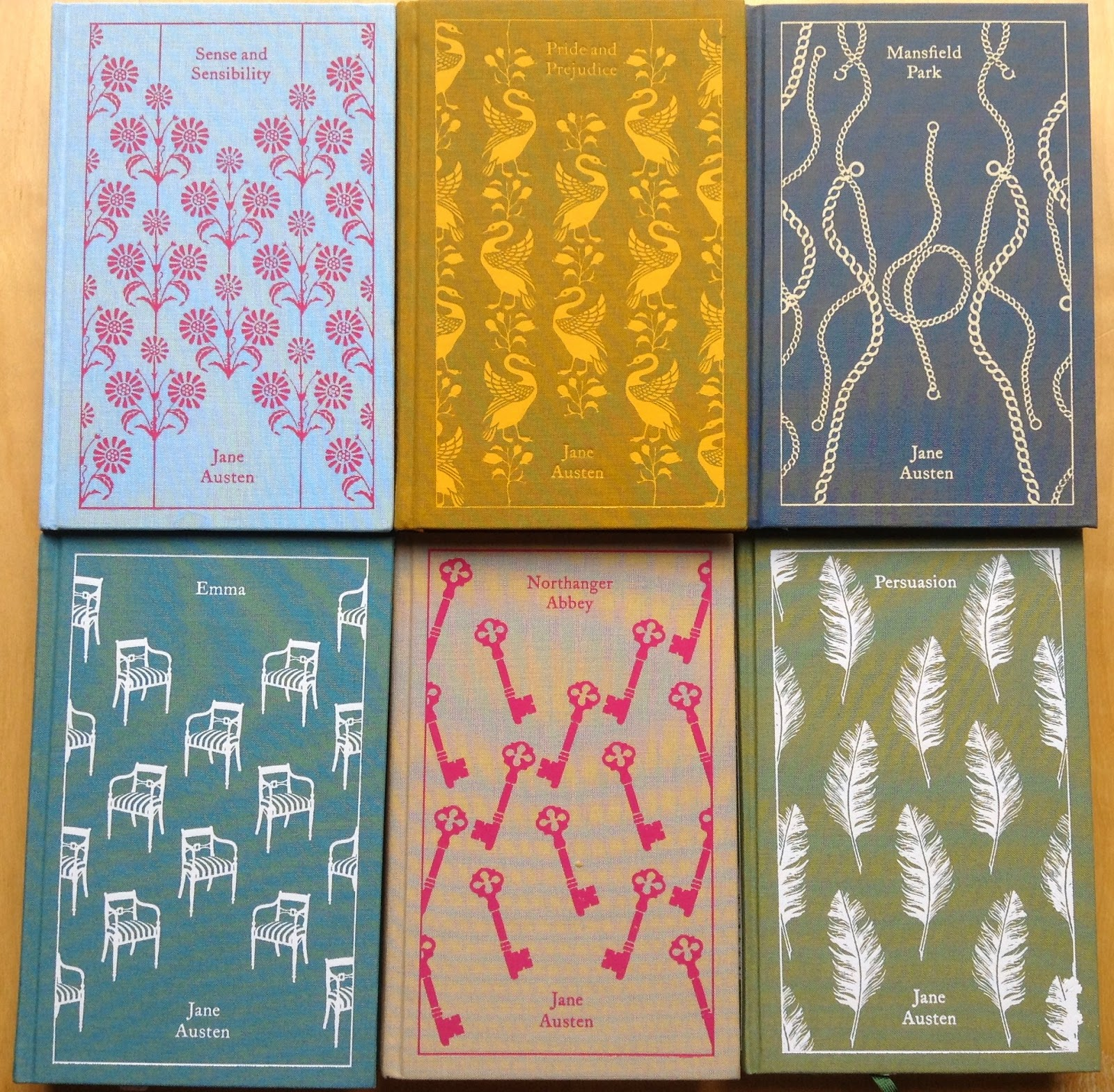 Book Covers - Clothbound Classics by Jane Austen