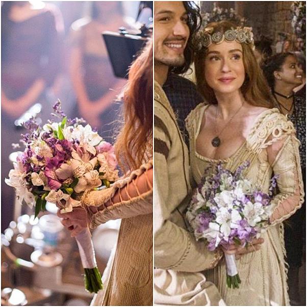 vestido de noiva e buque amalia deus salve o rei