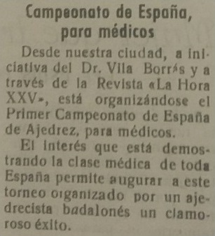 Campeonato de España de ajedrez para médicos 1957