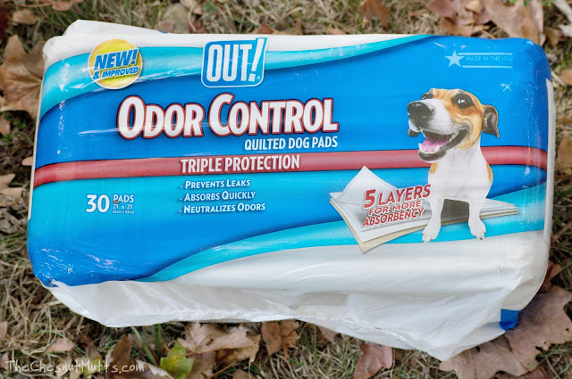 OUT! Odor Control Quilted Dog Pads