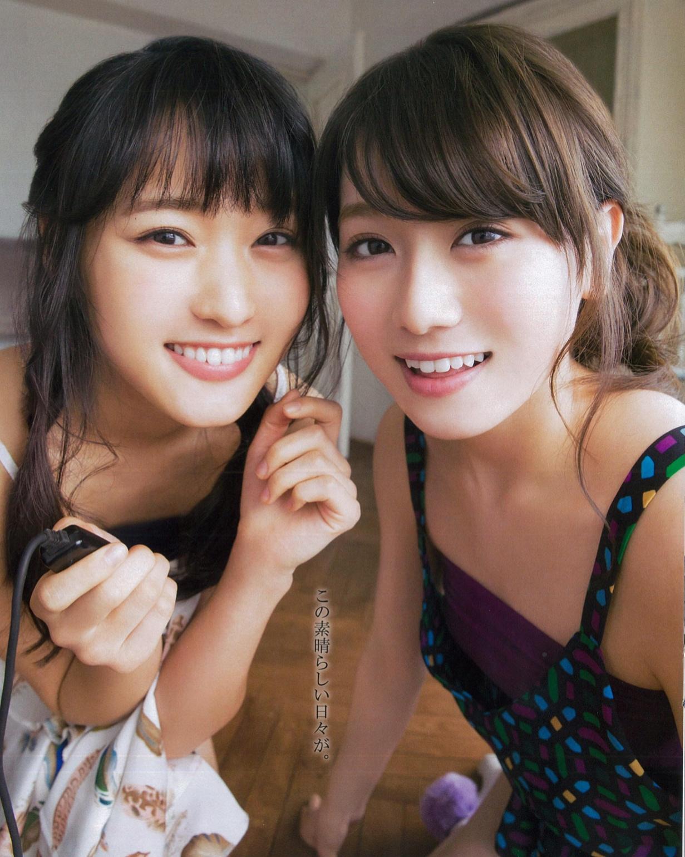 Sugai Yuuka 菅井友香, Moriya Akane 守屋茜 Keyakizaka46, BOMB! 2017.04 (ボム 2017年04月号)