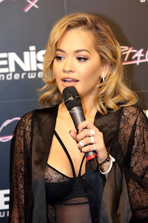 Rita Ora Exposing her  and s at Tezenis  Presentation in Lisbon