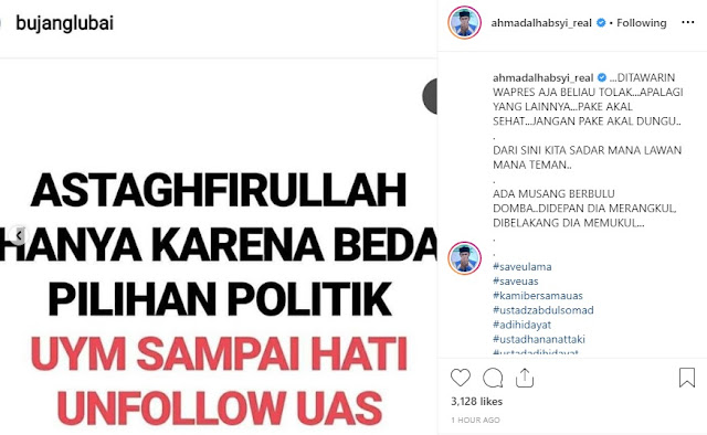 Beda Pilihan Capres, Yusuf Mansur Unfollow Akun Ustadz Somad