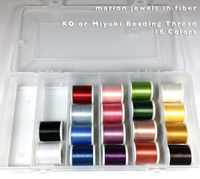 Compare Beading Thread, KO, Miyuki, C-Lon Bead Thread, FireLine, WildFire & PowerPro