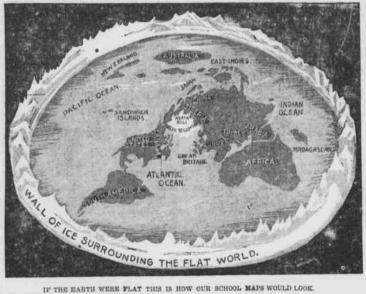 Flat earth research historic flat earth newspaper clippings archive gumiabroncs Gallery