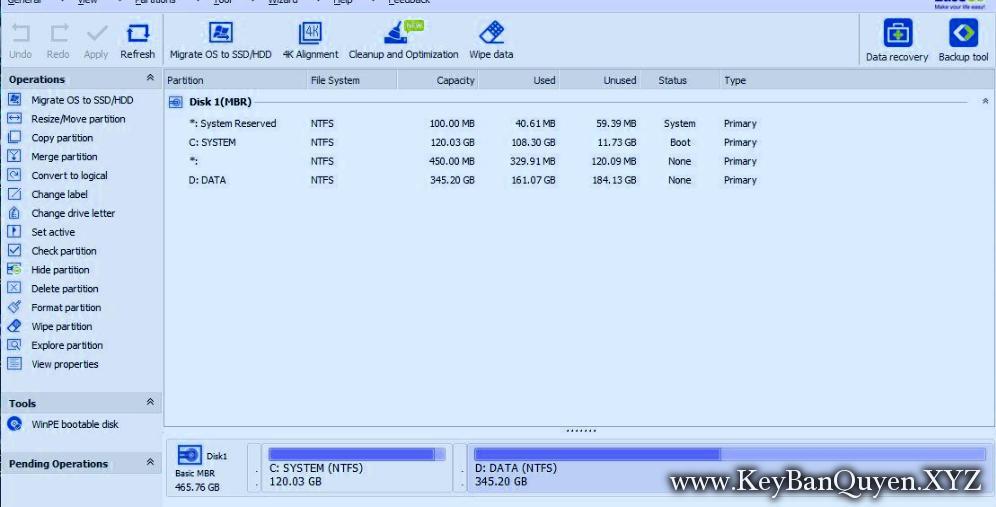 EaseUS Partition Master 13.0 Technician WinPE Edition ISO, File Boot giúp bạn phân vùng  và  cứu hộ hệ thống