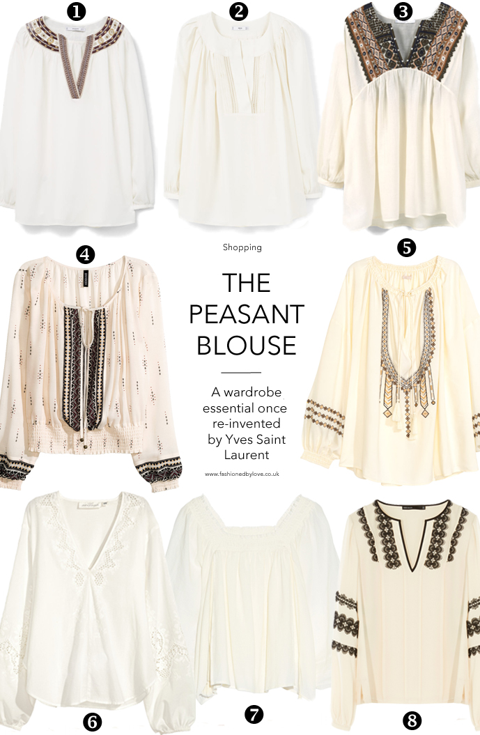 Most beautiful peasant & gypsy blouses to buy now via www.fashionedbylove.co.uk