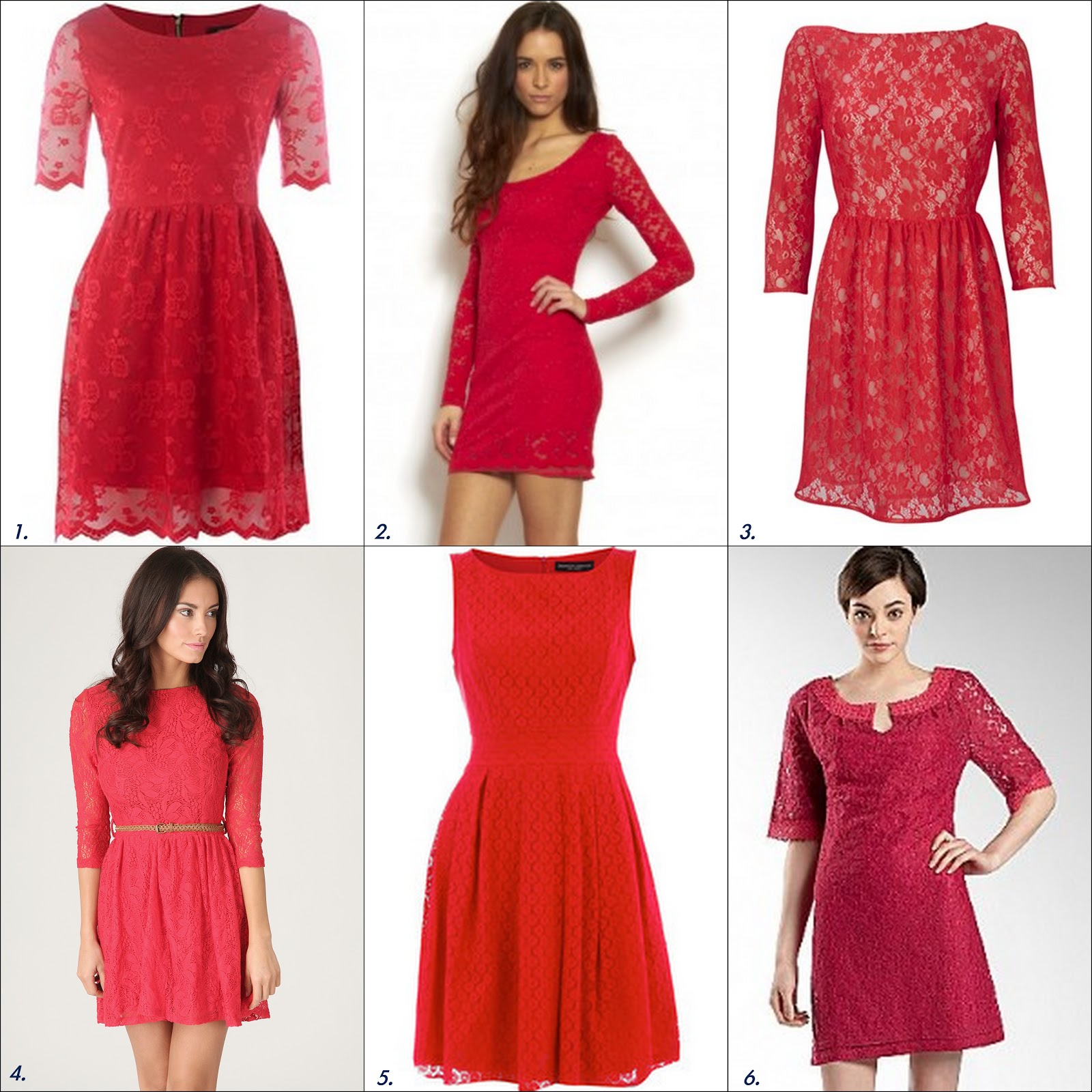 Frills and Thrills: The Red Lace Dress Trend