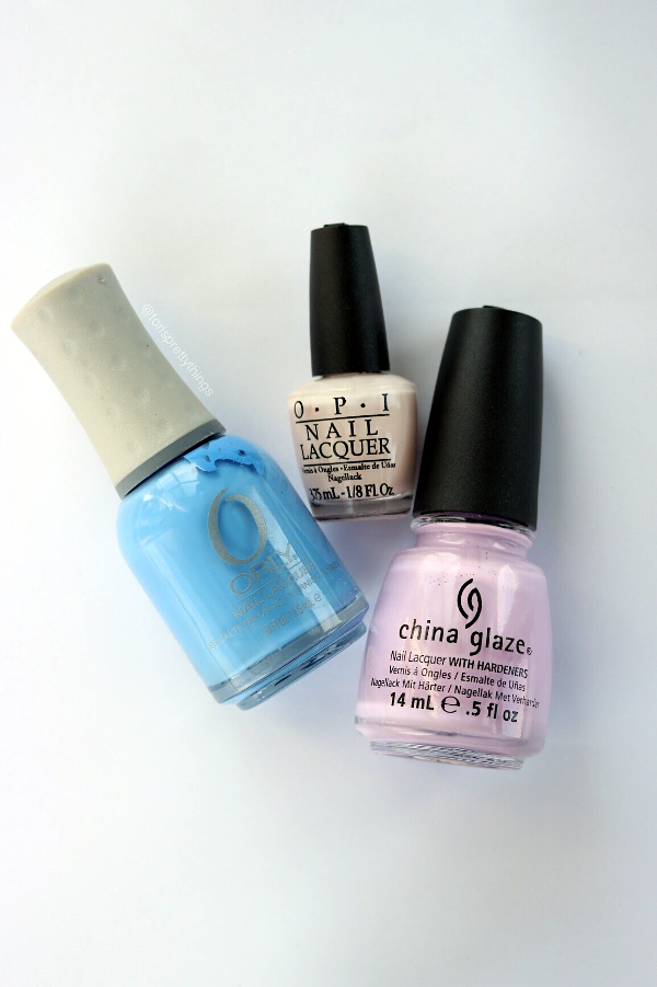 Orly Snowcone, China Glaze Sweet Hook, OPI Step Right up Mini - Tori's Pretty Things Blog