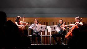 The Ligeti Quartet performing at Kings Place in 2017