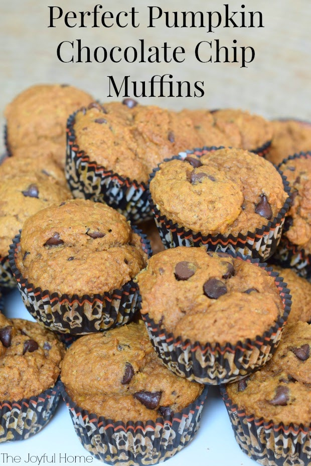 Perfect Pumpkin Chocolate Chip Muffins - The Joyful Home