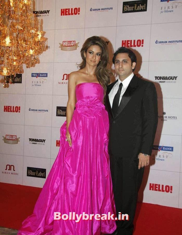 Natasha Poonawala, Adar Poonawala, Hello Awards 2013 Pics