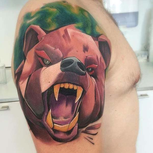 bear tattoo cartoon