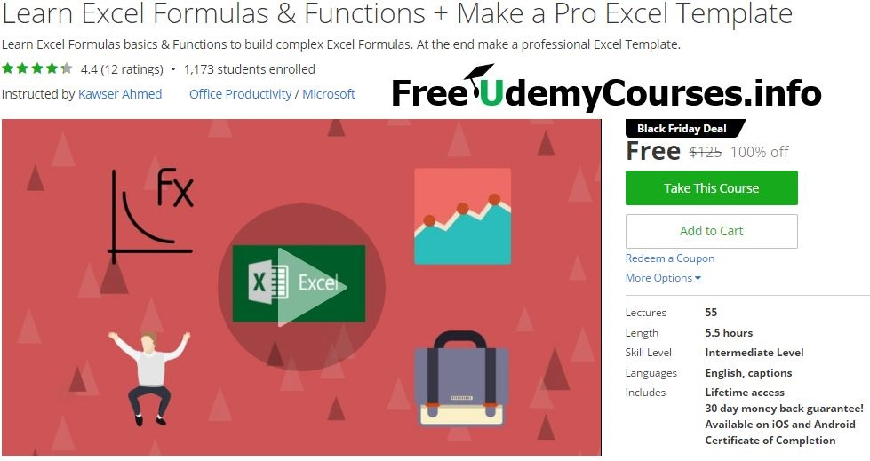 Udemy #BlackFriday] Learn #Excel Formulas & Functions + Make a Pro ...