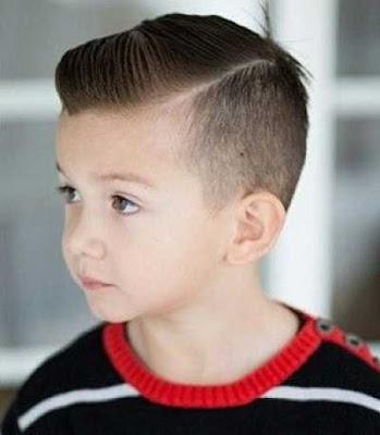 rambut pendek fade belahan pinggir untuk anak 21547