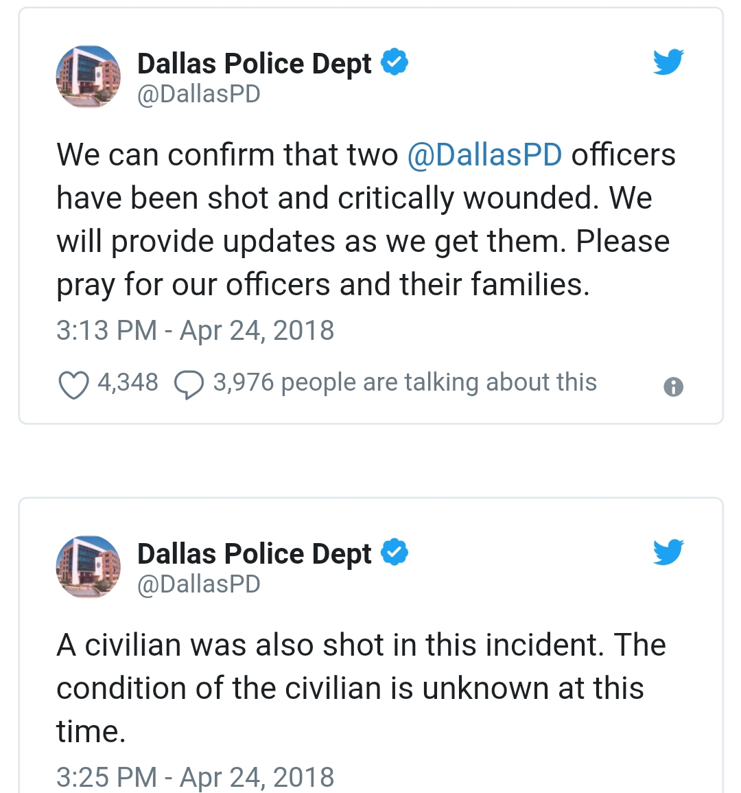 Words Worth: Manhunt underway for suspect who shot two Dallas police ...