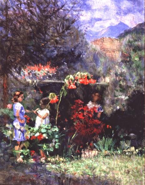 Três Meninas no Jardim - Eliseu Visconti -  O mais importante artista plástico brasileiro da primeira década do século XX