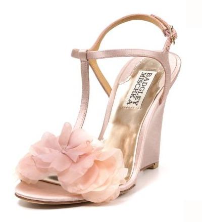 Outdoor Gr Wedges Wedding Shoes Badgley Mischka Blush
