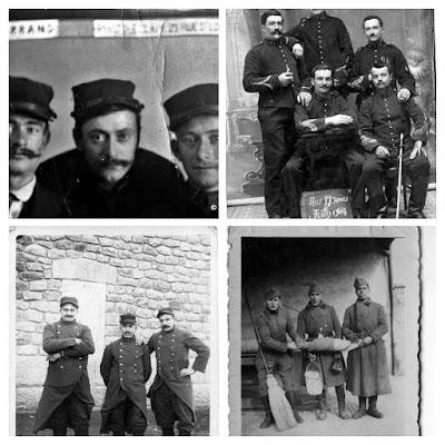 Album Photos anciennes noir et blanc guerre 1914-1918.
