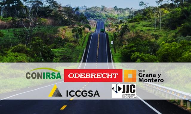 Conirsa, consorcio integrado por Odebrecht, Graña y Montero, ICCGSA y JJC.