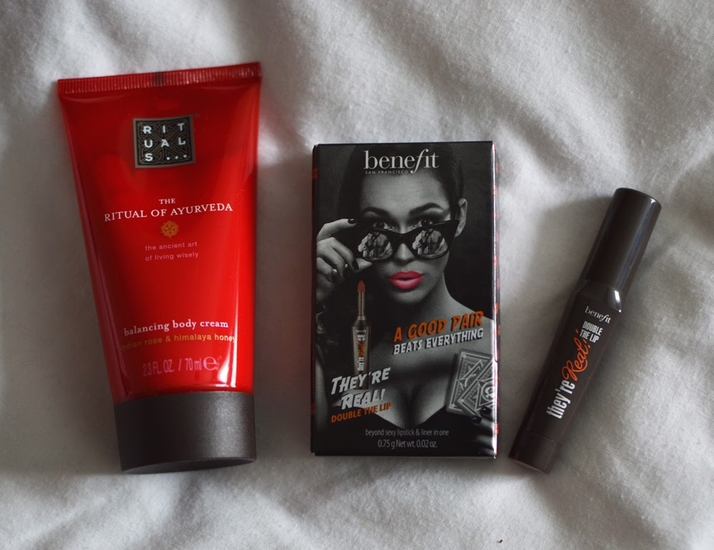 Rituals Body Cream & Benefit They're Real Lipstick