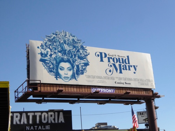 Proud Mary film billboard
