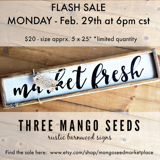 Upcoming rustic sign FLASH SALE