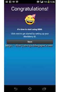 langkah registrasi bbm android