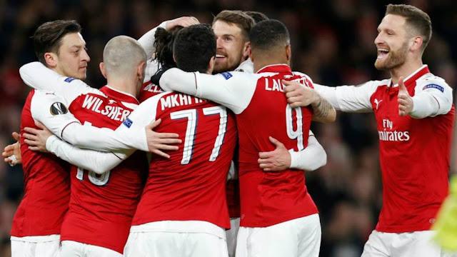 Cuplikan Gol Arsenal 4-1 CSKA Moscow | Leg 1 Babak 8 Besar Liga Europa