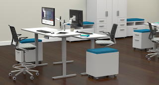 Collaborative Height Adjustable Work Tables