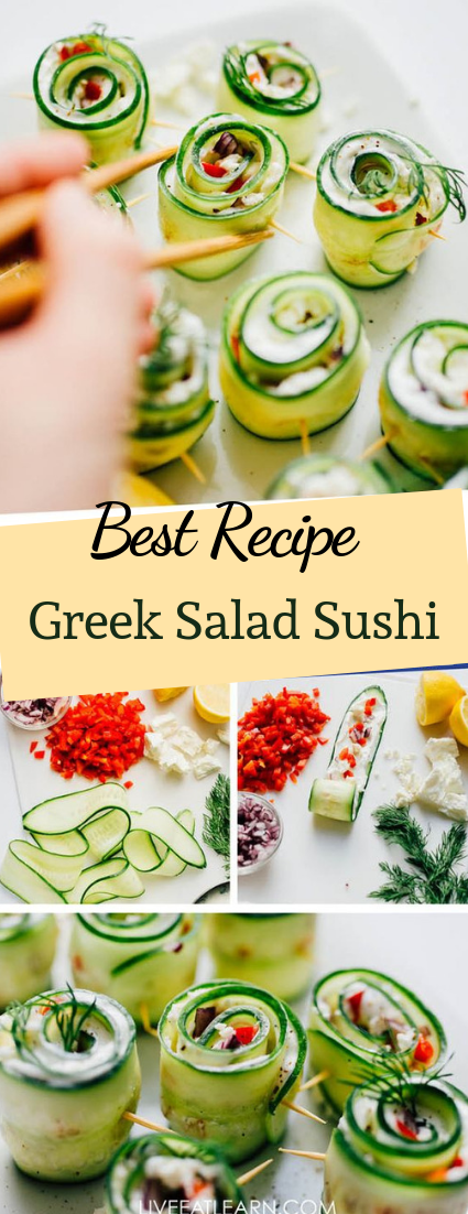 Greek Salad Sushi #sushi #healthy
