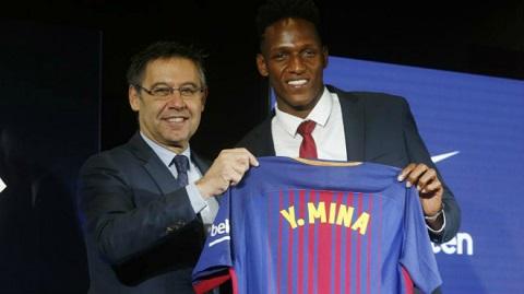 Trung vệ trẻ Yerry Mina đến Barca