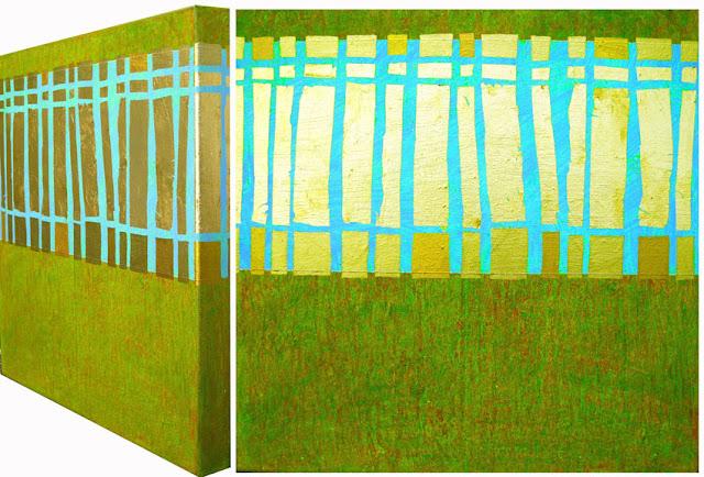 Bild No. 040111 GZ  Acryl und Blattgold auf Leinwand XL, 50 x 50 cm, Dagmar  Mahlstedt